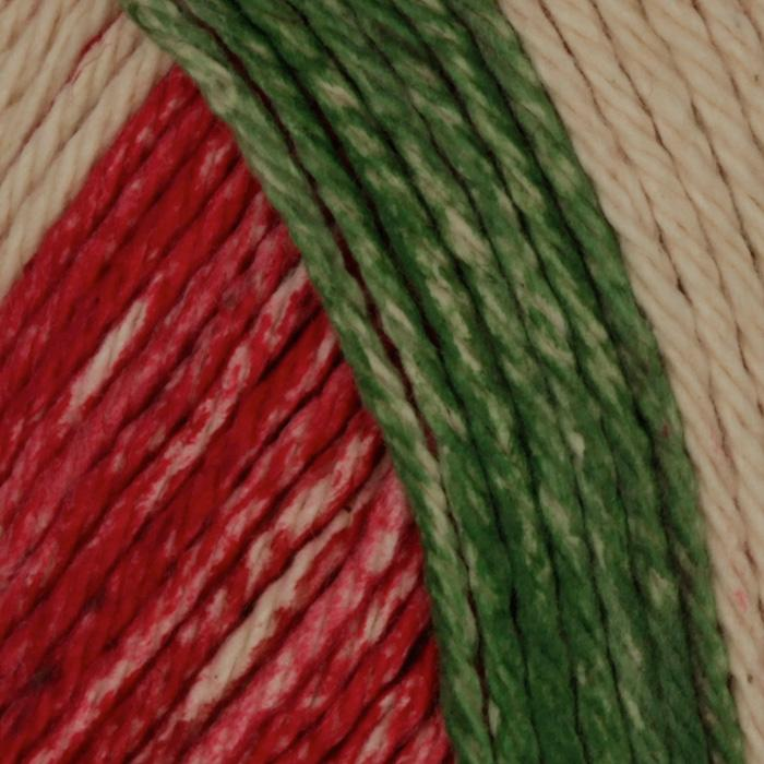 Lily Sugar 'n Cream Yarn Stripes (21532) Holiday