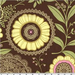 Amy Butler Lotus Lacework Brown