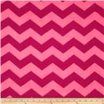 Chevron Fleece Tonal Pink