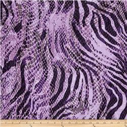 Stretch ITY Jersey Knit Animal Skin Purple/Lavender