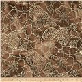 Indian Batiks Floral Brown/Natural