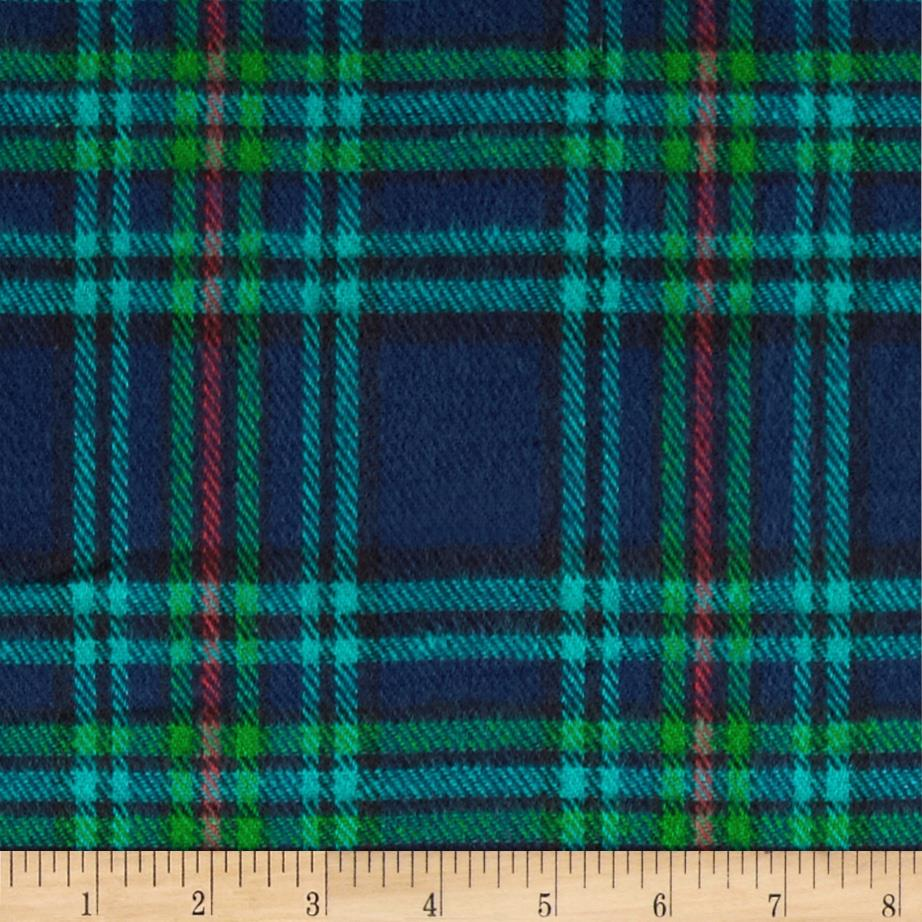 6 oz. Flannel Large Plaid Navy/Green/Teal