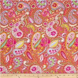 Tiddlywinks Paisley Yellow Fabric