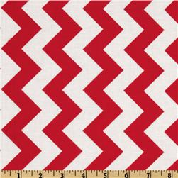 Riley Blake Chevron Medium Red Fabric