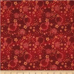 Buggy Barn Flannel Essentials 7 Dotty Floral Red