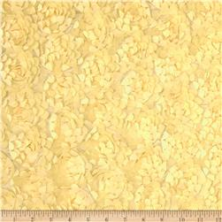 Starlight Meyammy Flower Satin Yellow Fabric
