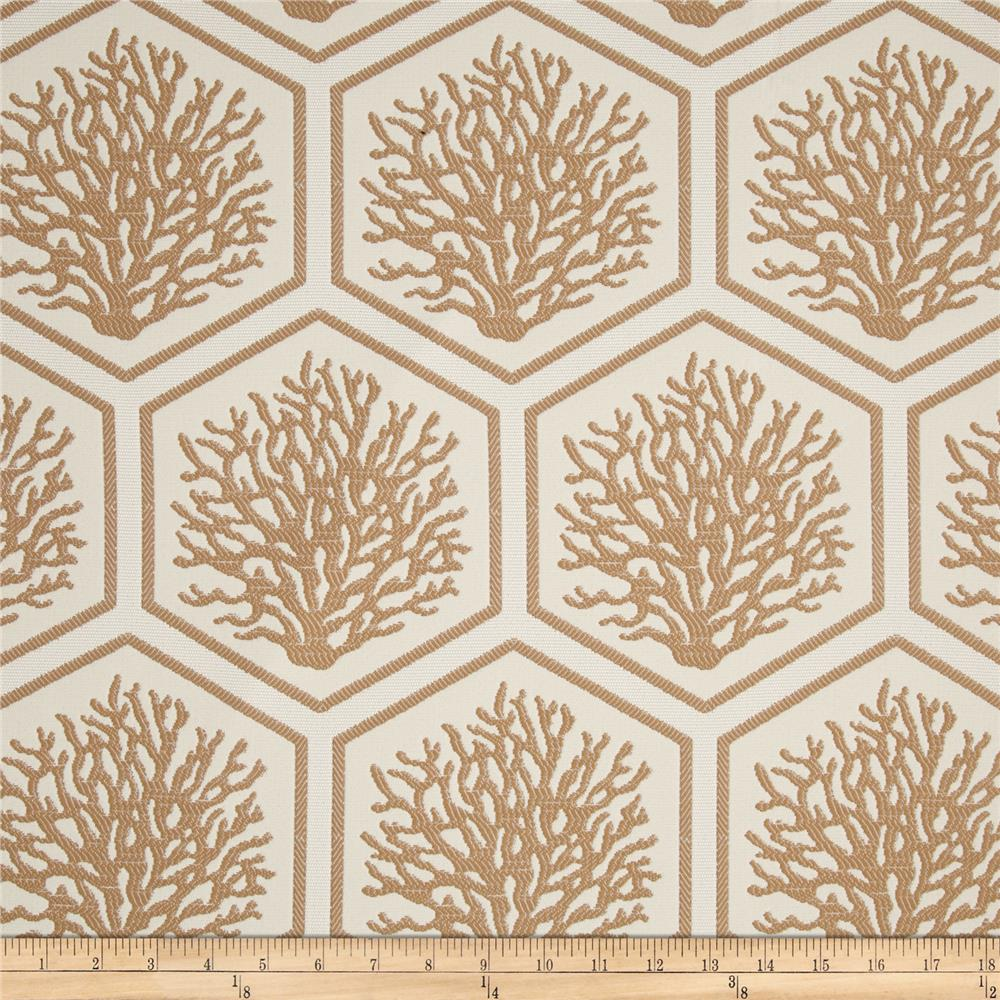 Bella Dura Eco-Friendly Indoor/Outdoor Seascape Jacquard Tan
