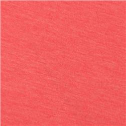 Tri-Blend Heather Jersey Knit Coral Pink