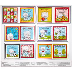 Miss Kitty's Colors Book 36 In. Panel Multi