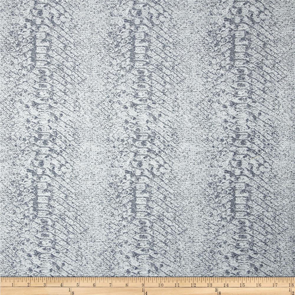 Home Accent Cobra Metallic Jacquard Meorite Grey