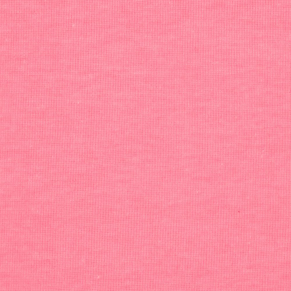 Cotton Poly Baby Rib Knit Neon Pink