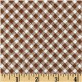 Timeless Treasures Sketch Gingham Brown