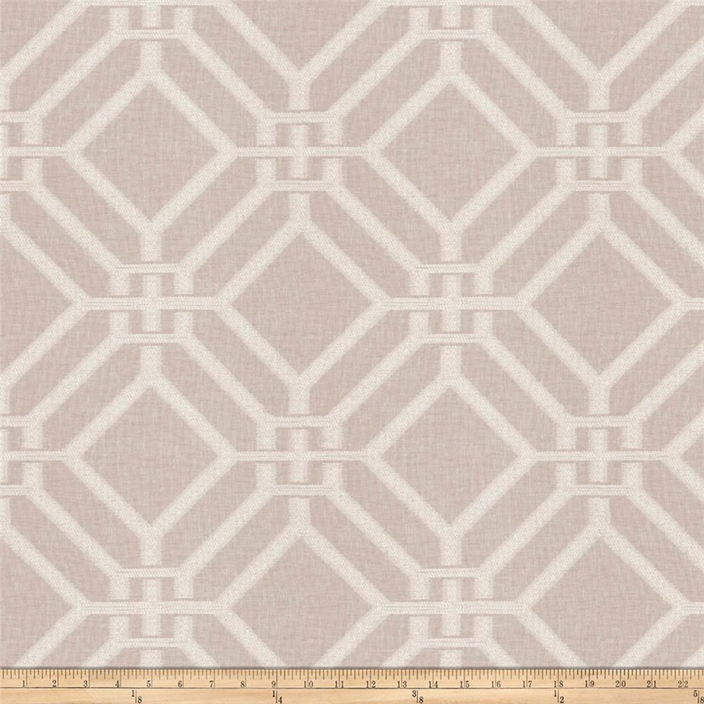 Fabricut Kama Lattice Fog Shimmer
