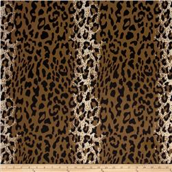 Animal Print Soft Fur Cheetah Brown/Black Fabric