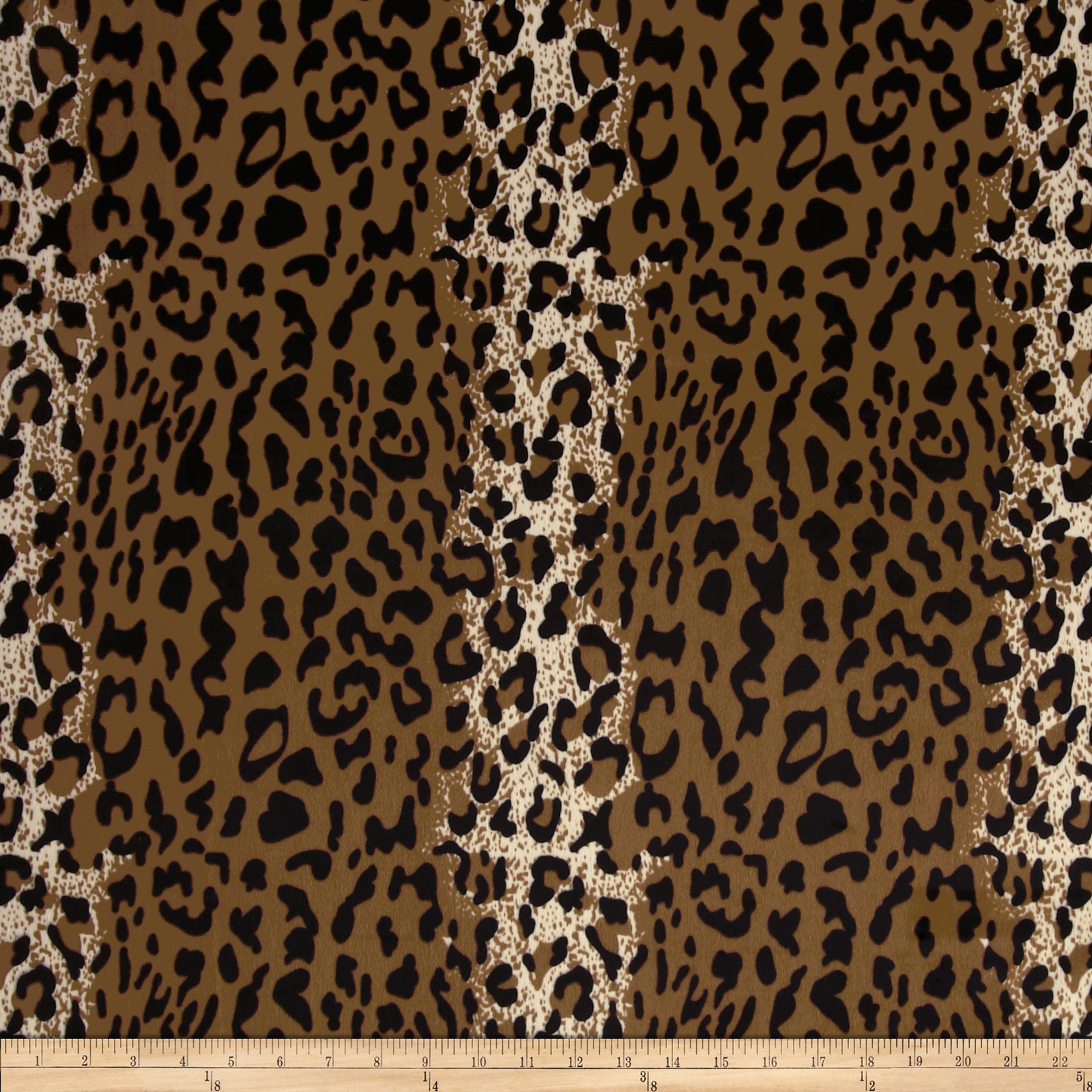 Animal Print Cheetah Brown/Black Fabric