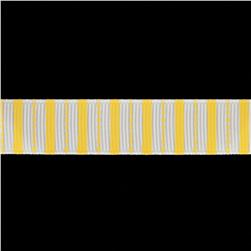"Riley Blake 5/8"" Grosgrain Ribbon Stripes Yellow"