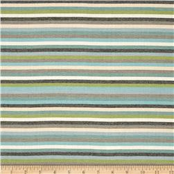 Dwell Studio Sunbrella Striped Affair Lime Fabric