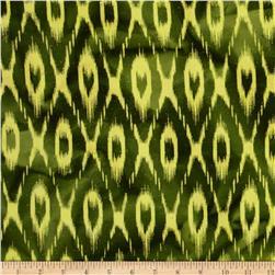 Textile Creations Batik Duck Diamond Ikat Green/Teadye