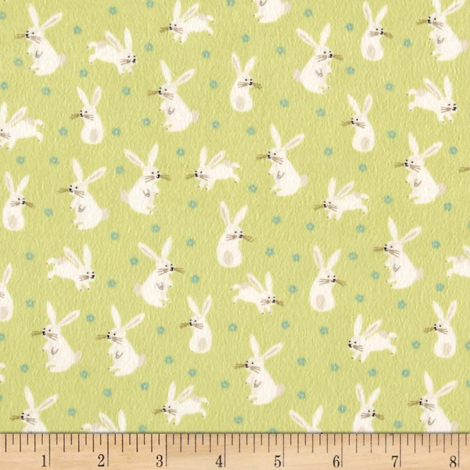 Moda Sweet Baby Flannel Hoppy Friends Sprig