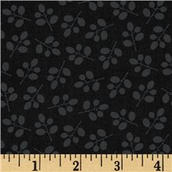 Moda Muslin Mates Sprigs Midnight Fabric