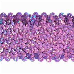 "1 3/4"" Hologram Stretch Sequin Trim Fuchsia"