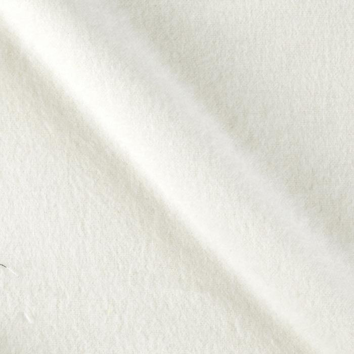 Solid Flannel Ivory Fabric By The Yard