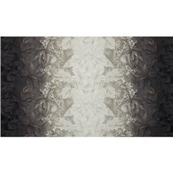 Daiwabo Double Border Floral Grey Fabric