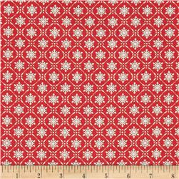 Tanya Whelan Winter Garden Snowflake Red