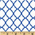 Petit Quatrefoil White/Royal