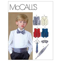 McCall's Children's/Boys' Lined Vests, Cummerbund, Bow Tie and