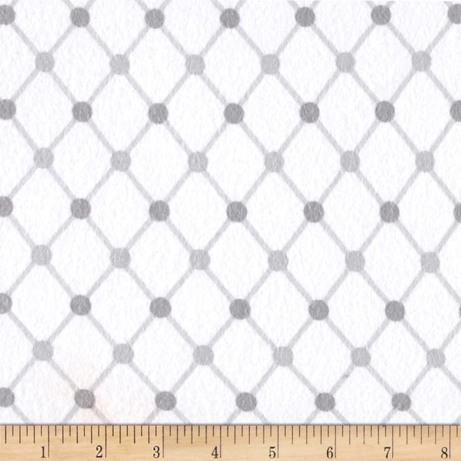 Kaufman Cozy Cotton Flannel Trellis White