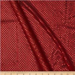 Sequin Dot Mesh Red