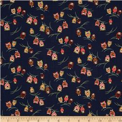 Kokka Owls on Branches Navy