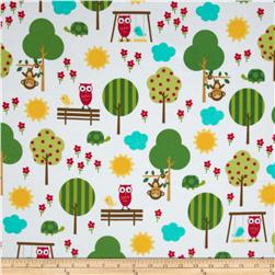 Urban Flotologie Flannel Animals In Trees Sorbet Fabric