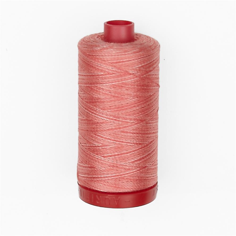 Aurifil 12wt Variegated Embellishment and Sashiko Dream Thread Flamingo