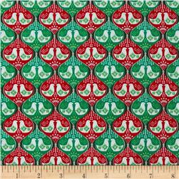 Seasons Greetings Doves Red/Green