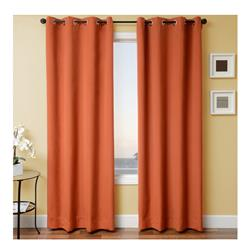 Sunbrella 96'' Solid Grommet Outdoor Panel Rust