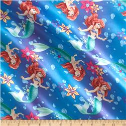 Disney Ariel Ombre Toss Brushed Back Satin Blue