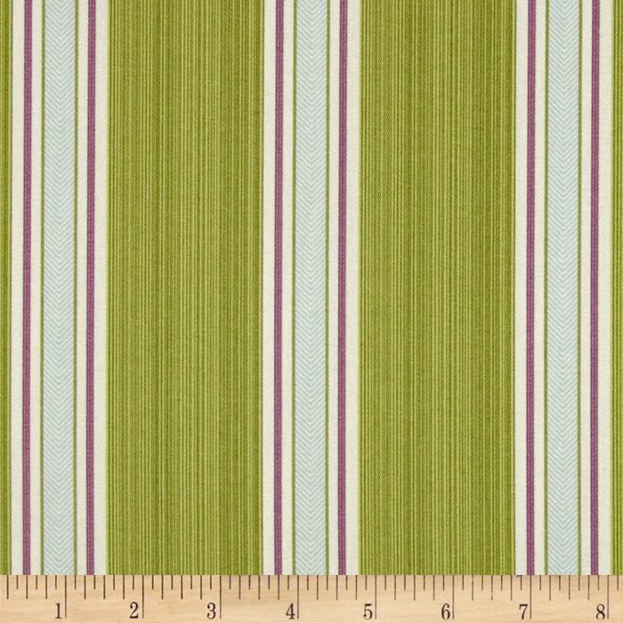 Waverly Williamsburg Fincastle Stripe Celadon