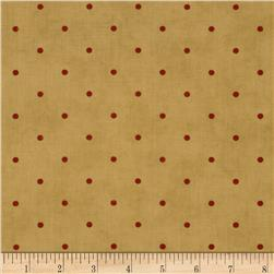 Moda Midwinter Reds Dots Tan-Red