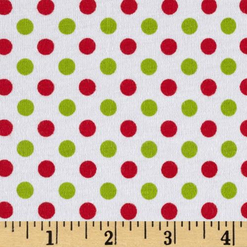 Riley Blake Cotton Jersey Small Dots Christmas