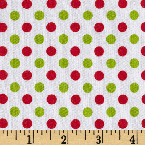 Riley Blake Cotton Jersey Small Dots Christmas Fabric by Christensen in USA