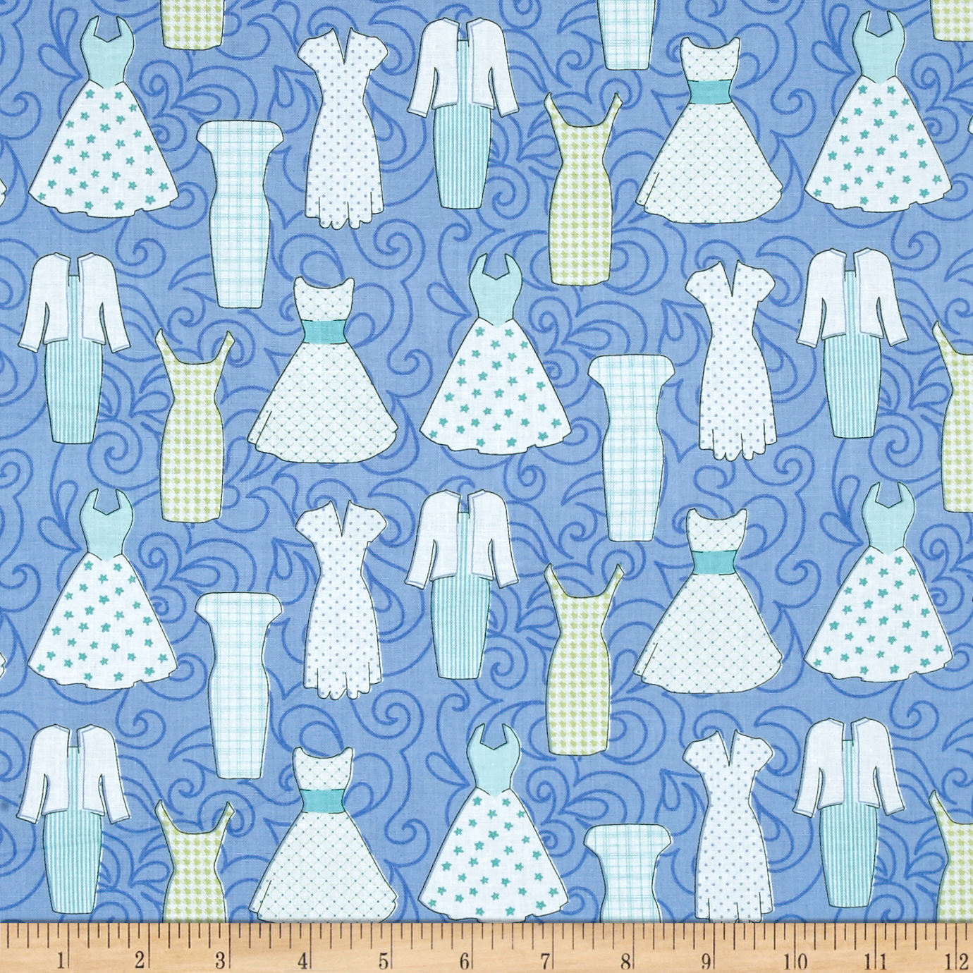 INOpets.com Anything for Pets Parents & Their Pets Sewing Room Dresses Peri Blue Fabric