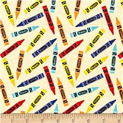 Riley Blake Crayola Crayon Yellow