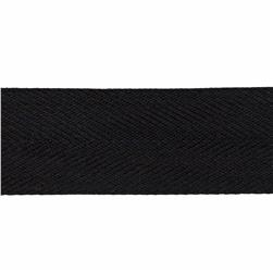 1 1/2'' Poly Twill Tape Ribbon Black