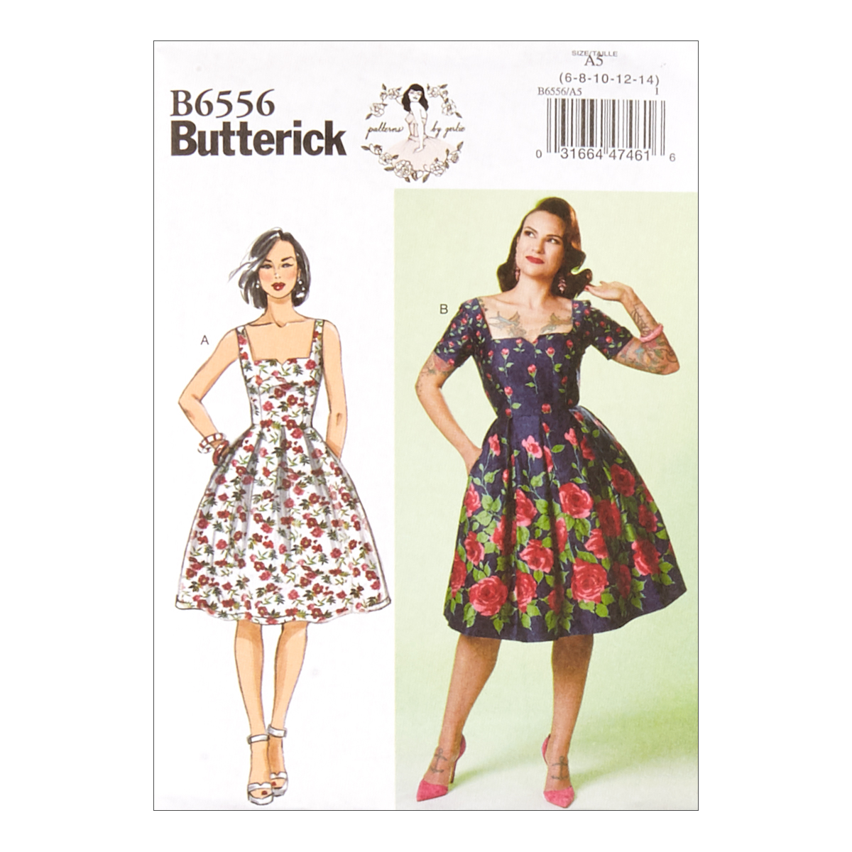 1950s Sewing Patterns | Dresses, Skirts, Tops, Mens Butterick B6556 Patterns by Gertie Misses Dress E5 Sizes 14-22 $11.97 AT vintagedancer.com