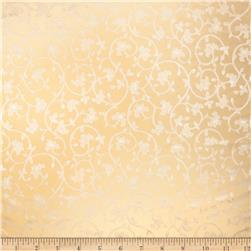 Fabricut Baroque Scroll Silk Daisy