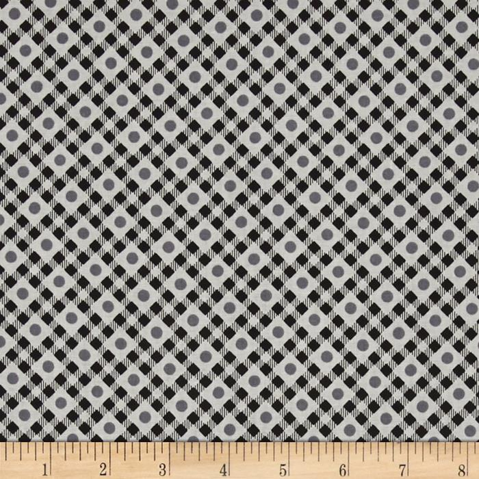 Vintage Made Modern Dot Check Grey