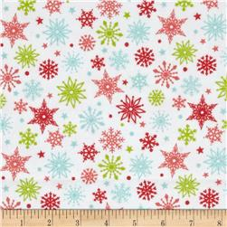 Riley Blake Merry Matryoska Flannel Snowflakes Multi