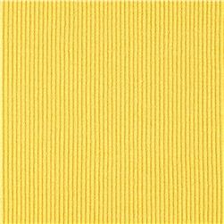 Rib 2x1 Knit Solid Yellow